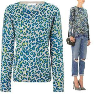 Equipment Shane Leopard Print Cashmere Sweater